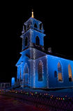 Alight at Night. Church at the Alight at Night event at Upper Canada Village Royalty Free Stock Images