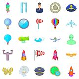 Alighting icons set, cartoon style. Alighting icons set. Cartoon set of 25 alighting vector icons for web isolated on white background Royalty Free Stock Photos