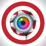 Align the sights and bull's eye. Humorous illustration, concept Stock Photo