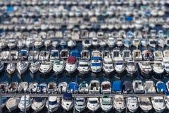 Aligned boats Royalty Free Stock Photos