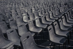 Aligned Chairs Royalty Free Stock Photo