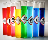 Aligned Chemical Danger pictograms - Explosive Royalty Free Stock Image