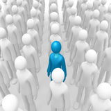 Aligned crowd 2 Royalty Free Stock Photo