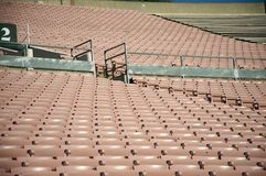 Aligned emty stadium stands Royalty Free Stock Photography