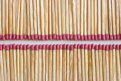 Aligned Matches Royalty Free Stock Photo