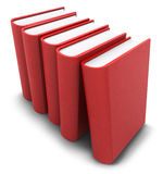 Aligned red books Royalty Free Stock Images
