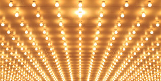 Aligned theater lights of Chicago Theater. Casino lights Stock Photos