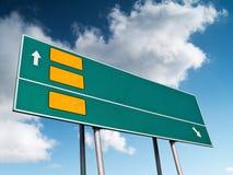 Alignement 2 de route Photos libres de droits