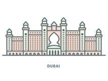 Alignement d'hôtel de luxe de Dubaï icône illustration libre de droits
