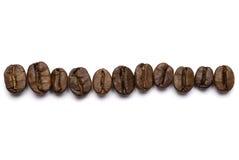 Alignement de grains de café Image libre de droits