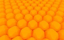 Alignement orange de sphère Images libres de droits