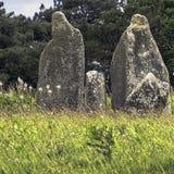 Alignements de Carnac - piedras de Carnac imagen de archivo