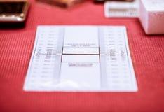 Alignment sheet for lens Stock Photo