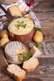 Aligot,cheese fondue Stock Photos