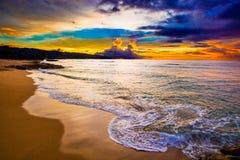 Alii solnedgång arkivfoton