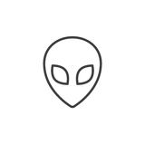 Aliien line icon, outline  logo illustration, linear picto. Alien line icon, outline  logo illustration, linear pictogram isolated on white Royalty Free Stock Image