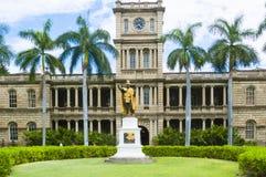 Aliiolani instämmer, byggnad för delstatensa högsta domstolen för Hawaii ` s Arkivbild