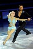 Alijona et Robin à la récompense d'or du patin 2011 Image stock
