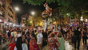 Alikante, Spain - June 25, 2016: Spanish holiday San Juan stock video