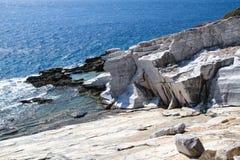 Aliki Antyczny Marmurowy łup Thassos Grecja Fotografia Stock