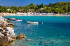Aliki beach Stock Image