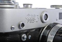 3 ALIMENTÉS, télémètre russe 35mm, 61 industar Image libre de droits