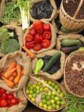 Aliment biologique d'assortiment Photographie stock libre de droits