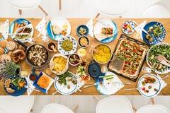 Aliment biologique de la restauration végétarienne Photographie stock