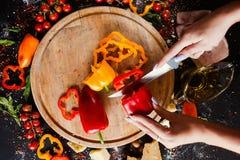 Aliment biologique de végétarien de poivrons doux images libres de droits