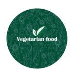 Aliment biologique Emblème de la nutrition saine Image stock