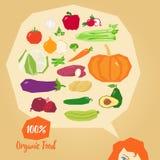 Aliment biologique/illustration délicieuse de vecteur de légumes Illustration de Vecteur