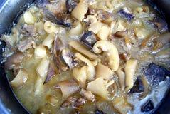 Aliment cuits : viande indica d'éleusine Photo libre de droits