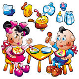Aliment pour bébé illustration de vecteur