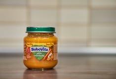 Aliment pour bébé de Bobovita Photos libres de droits