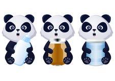 Aliment pour bébé de panda Image libre de droits