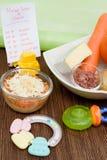 Aliment pour bébé sain Images stock