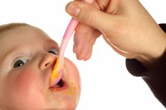 Alimentação do bebê fotografia de stock royalty free