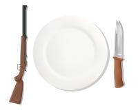 Alimentações da profissão caçador EPS ilustração do vetor