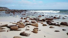 Alimenta la opinión de la playa Foto de archivo libre de regalías