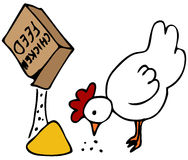 Alimentación de pollo libre illustration