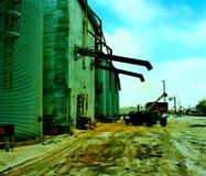 Alimentación industrial de la granja Fotografía de archivo libre de regalías