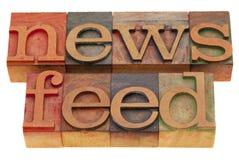Alimentación de noticias Fotos de archivo libres de regalías