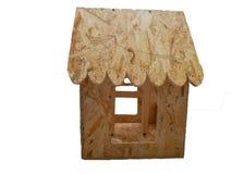 Alimentador de madeira feito ? m?o do p?ssaro imagem de stock royalty free