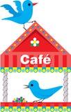 Alimentador del pájaro ilustración del vector
