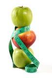 Alimentare-mele dietetiche Fotografia Stock