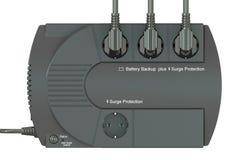 Alimentation d'énergie non interruptible, UPS avec les prises électriques 3d rendent Photo libre de droits