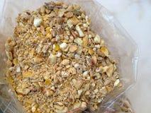 Alimentation de poulet Photos stock