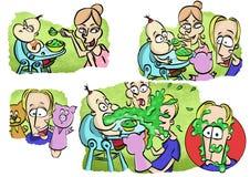 Alimentation de votre bab Image stock