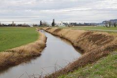 Alimentation en eau pour la terre de ferme Photographie stock libre de droits