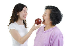 Alimentation saine de mère et de fille Photo stock